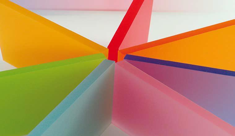 Impression von Plexiglas in Farbe